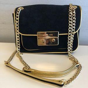 Michael Kors black and gold purse